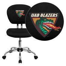 Alabama at Birmingham Blazers Embroidered Black Mesh Task Chair with Chrome Base