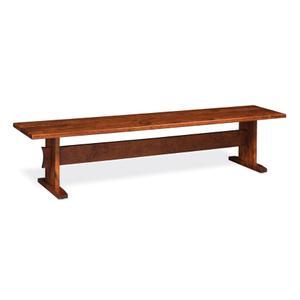 Shenandoah Trestle Dining Bench, Wood Seat