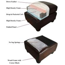 See Details - Milan Leather Ottoman - Brown