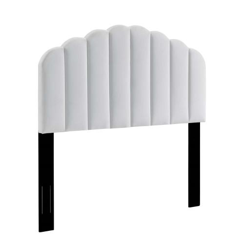 Veronique King/California King Performance Velvet Headboard in White