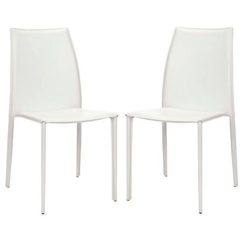 Korbin 19''h Stacking Side Chair (set of 2) - White
