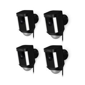 4-Pack Spotlight Cam Wired - Black