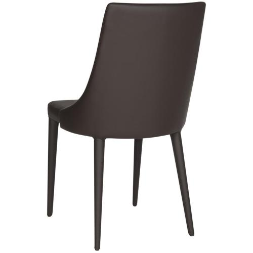 Summerset 19''h Leather Side Chair - Brown