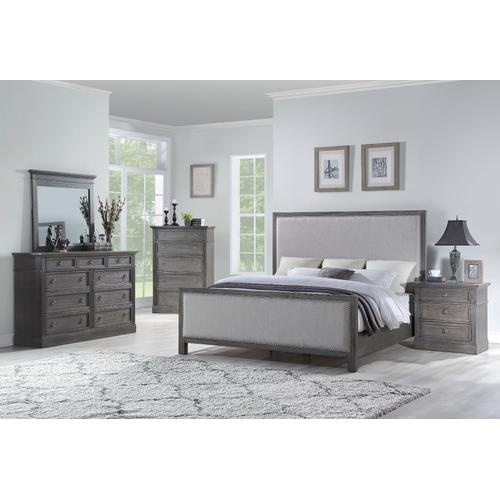 Amberleigh King Upholstered Bed, Brown
