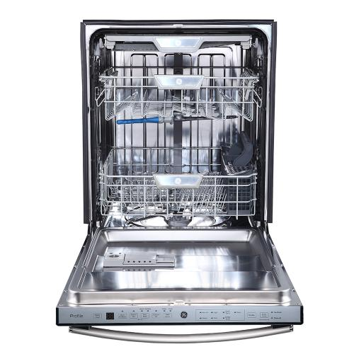 "GE Profile 24"" Built-In Stainless Steel Tall Tub Dishwasher Stainless Steel - PBT860SSMSS"