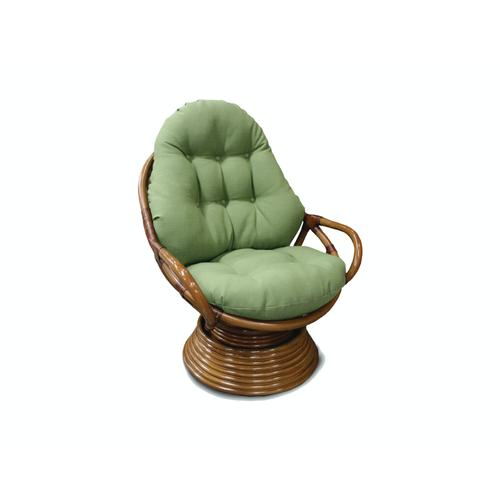 Capris Furniture - Swivel Rocker, Cottage White Finish.