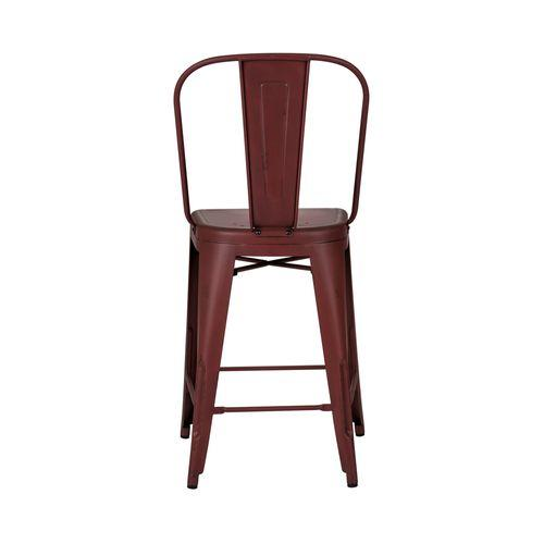 Liberty Furniture Industries - Bow Back Counter Chair - Red (RTA)
