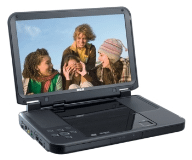 "Portable DVD Player with 10"" LCD Screen"