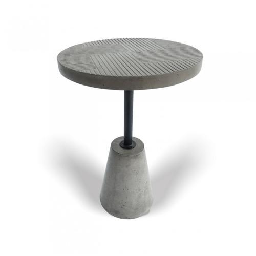 Modrest Dakan - Modern Grey Concrete End Table