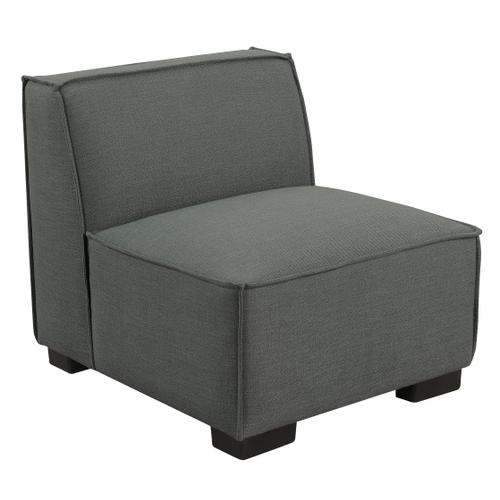 Emerald Home Lonnie Modular Armless Chair Cinder Gray U4331-15-03