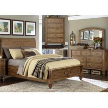 View Product - Queen Storage Bed, Dresser & Mirror, Chest
