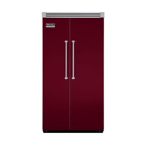 "Viking - Burgundy 42"" Side-by-Side Refrigerator/Freezer - VISB (Integrated Installation)"