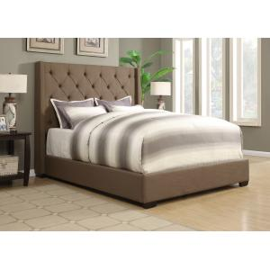 Shelter UpholsteredFootboard/Rails Taupe Queen
