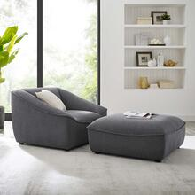 Comprise 2-Piece Living Room Set in Charcoal