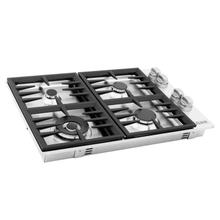 """See Details - ZLINE 30"""" Dropin Gas Stovetop with 4 Gas Burners (RC30) [Finish: Stainless Steel]"""