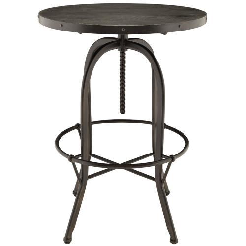 Sylvan Wood Top Bar Table in Black