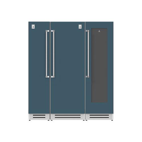 "Hestan - 72"" Column Freezer (L), Refrigerator and Wine Cellar ® Ensemble Refrigeration Suite - Pacific-fog"