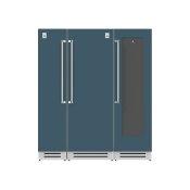 "72"" Column Freezer (L), Refrigerator and Wine Cellar ® Ensemble Refrigeration Suite - Pacific-fog"