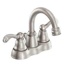 Traditional Spot resist brushed nickel two-handle high arc bathroom faucet
