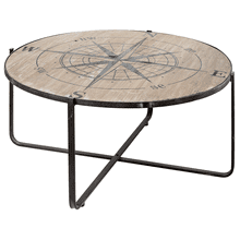 Round Compass Coffee Table