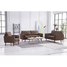See Details - 8115 3PC BROWN Linen Stationary Living Room SET