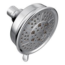 "Moen Chrome four-function 4-3/8"" diameter spray head eco-performance showerhead"
