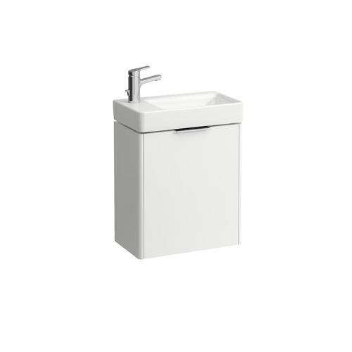 Traffic Grey Vanity unit, 1 door, door hinge left, matching small washbasin 815955