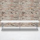 10.25''W x 71''L Bi-Fold Granite White Plastic Bench with Carrying Handle Product Image