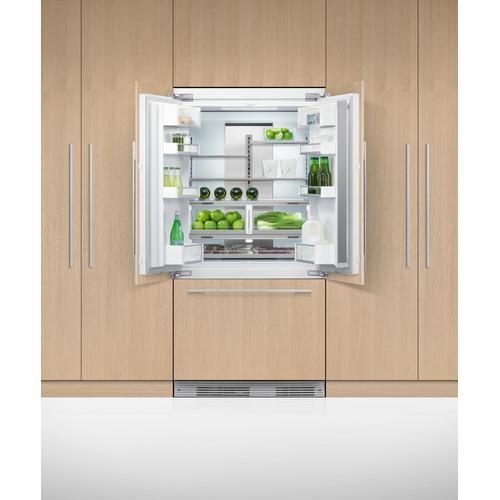 """Fisher & Paykel - Integrated French Door Refrigerator Freezer, 36"""", Ice"""