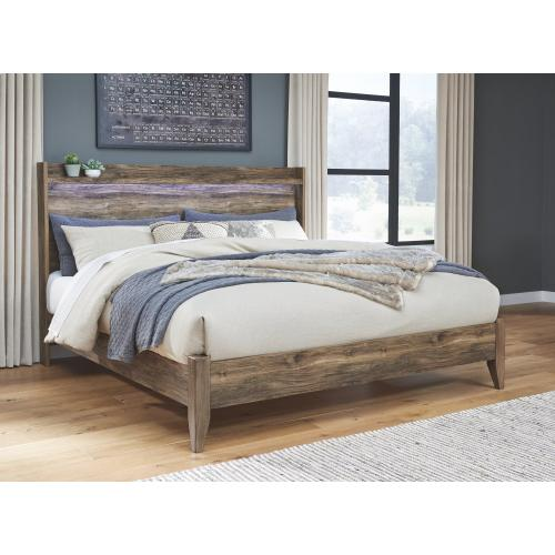Rusthaven King Panel Bed