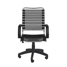 See Details - Allison Bungie Flat High Back Office Chair In Black With Aluminum Frame and Black Base