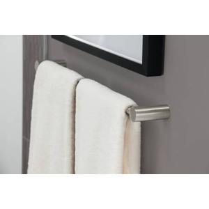 "Align brushed nickel 18"" towel bar"