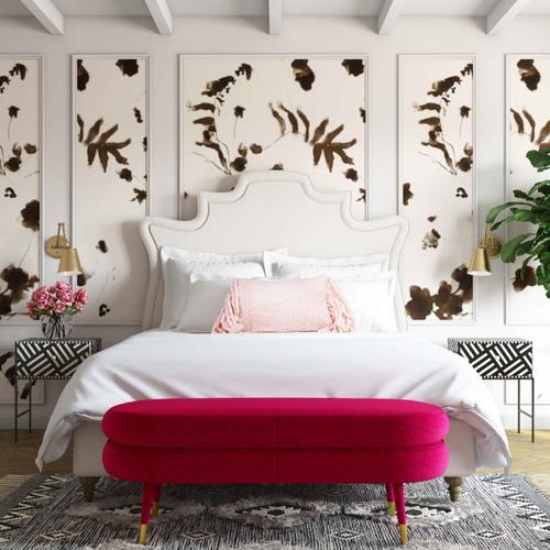 Tov Furniture - Betty Pink Velvet Bench