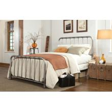 Metal Pewter Full Bed