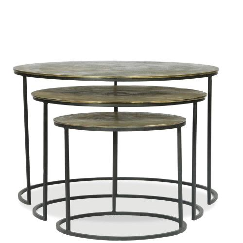Nesting Coffee Tables - Vintage Iron Finish