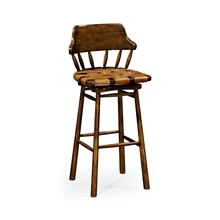 See Details - Country style leather bar & counter stools