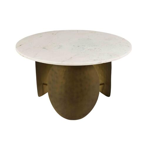 Indio White Marble Cocktail Table