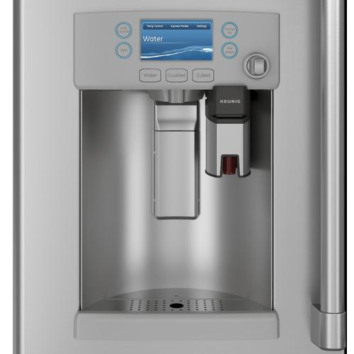 Café ENERGY STAR® 22.1 Cu. Ft. Smart Counter-Depth French-Door Refrigerator with Keurig® K-Cup® Brewing System