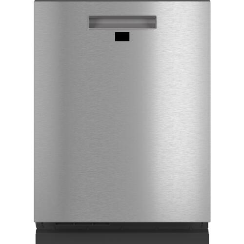 Café Smart Stainless Interior Built-In Dishwasher with Hidden Controls in Platinum Glass