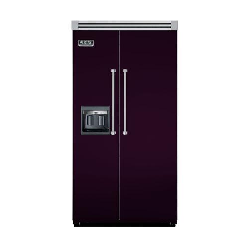 "Viking - Plum 42"" Side-by-Side Refrigerator/Freezer with Dispenser - VISB (Integrated Installation)"