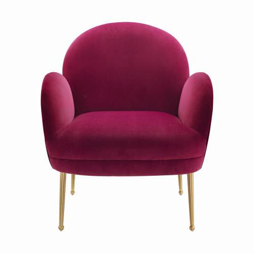 Gwen Plum Velvet Chair