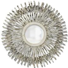WHITE WASHED VINE MIRROR  39w X 39ht X 2d  White Washed Round Mirror Made From Liana Vines