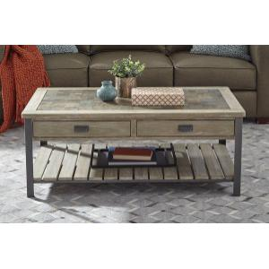 Null Furniture Inc - Large Rectangular Cocktail in a distressed Acorn finish        (9918-11,52949)