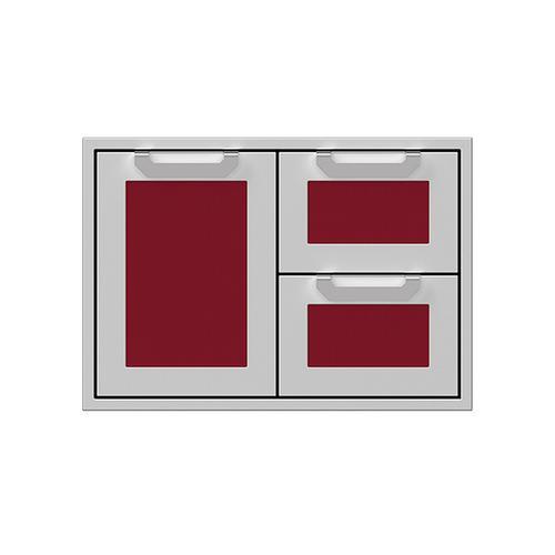 """Hestan - 30"""" Hestan Outdoor Combo Door/Drawer - AGSDR Series - Tin-roof"""
