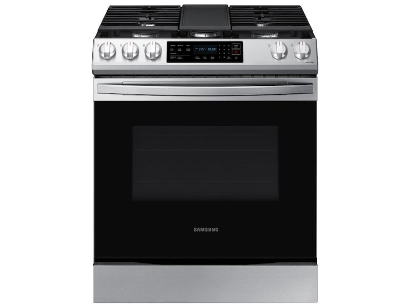 Samsung6.0 Cu. Ft. Smart Slide-In Gas Range With Convection In Stainless Steel