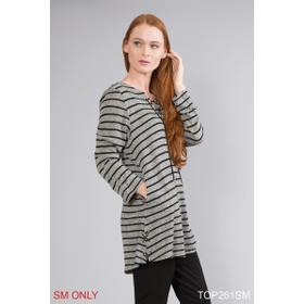 Saturday Stripes Lace Up Top - S/M (3 pc. ppk.)