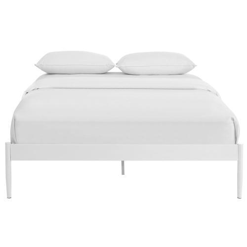 Elsie King Bed Frame in White