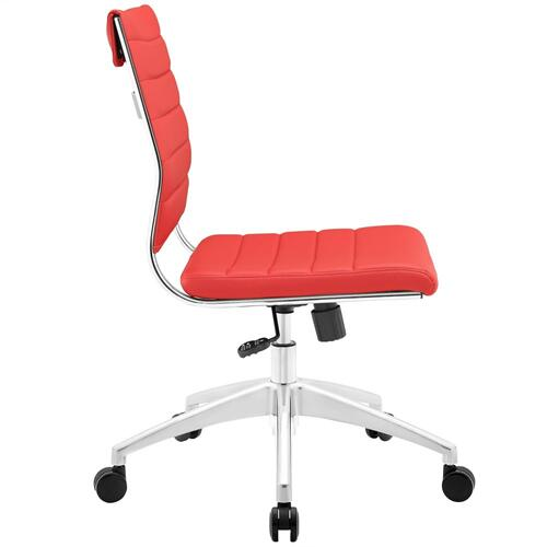 Jive Armless Mid Back Office Chair in Red