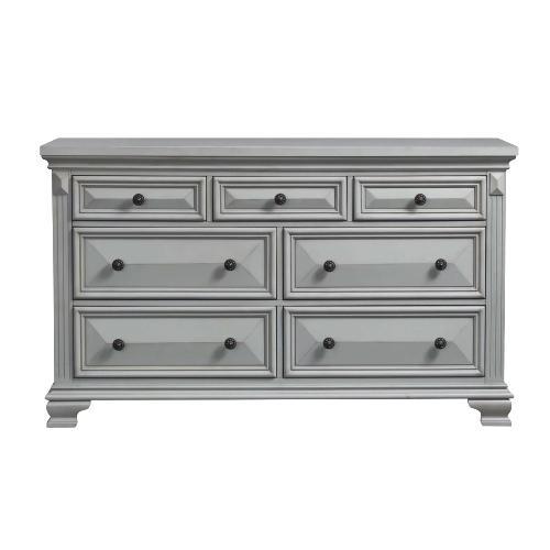 Calloway 7-Drawer Dresser in Grey