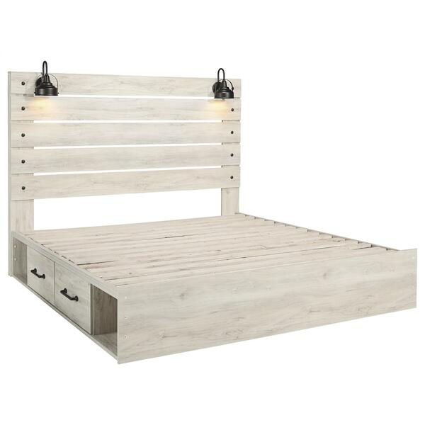 Cambeck King Panel Bed With 2 Storage Drawers